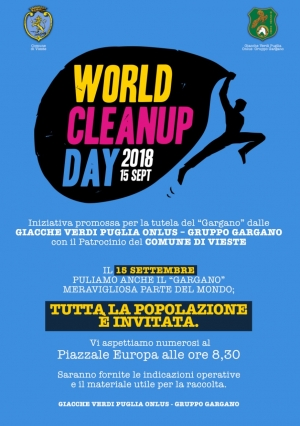 WORLD CLEANUP DAY 2018 SEPT – Puliamo il Gargano -