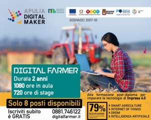 Digital Farmer, solo 8 posti disponibili a Foggia